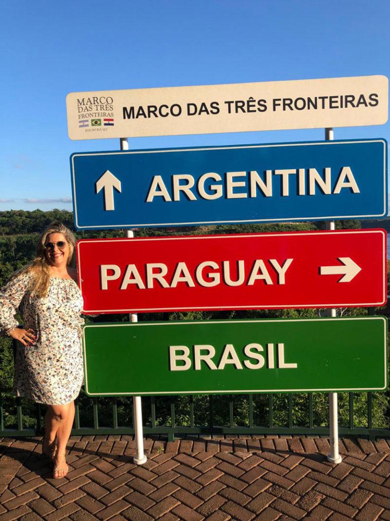 Marco das 3 Fronteiras - três países em um só lugar